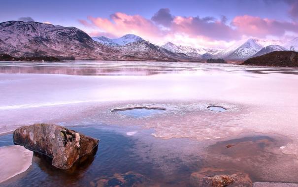 Фото обои пейзаж, горы, озеро