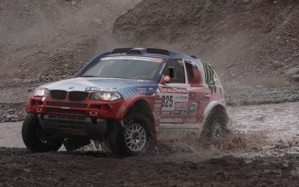 Фото обои Вода, BMW, Капот, Брызги, Rally, Dakar, Дакар