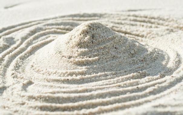 Фото обои песок, макро, свет, линии, узор, light, design