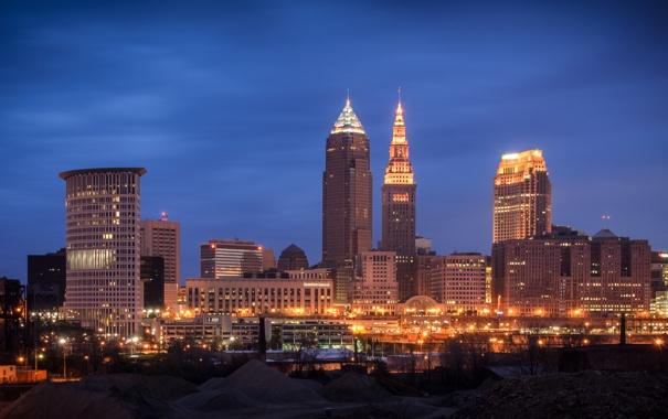 Фото обои city, город, USA, Кливленд, Ohio, Cleveland