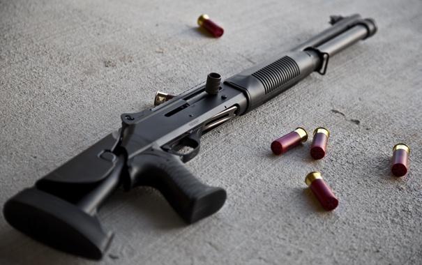 Фото обои red, shotgun, ammunition