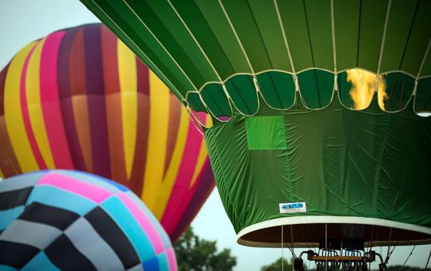 Фото обои спорт, небо, шары