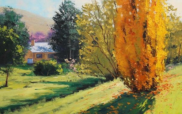 Фото обои рисунок, арт, Australia, artsaus, Autumn in carcor