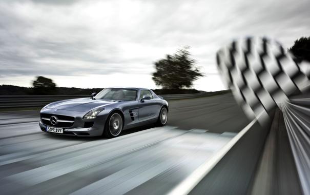 Фото обои car, машина, авто, Mercedes-Benz, supercar, SLS AMG