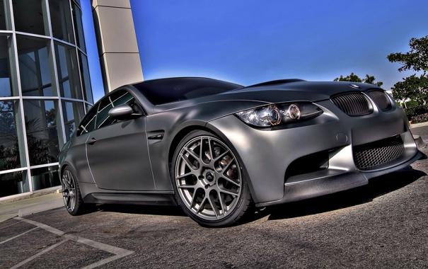 Фото обои BMW, silver, tuning