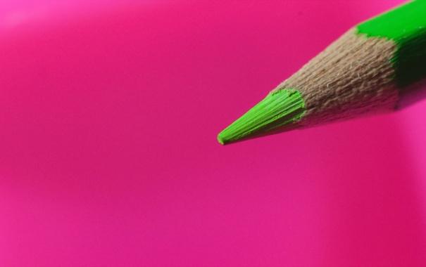 Фото обои макро, фон, цвет, карандаш