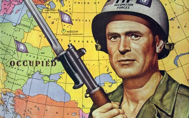 Фото обои карта, солдат, 1951, ООН, обложка журнала, Russia's defeat and occupation 1952-1960, October 27