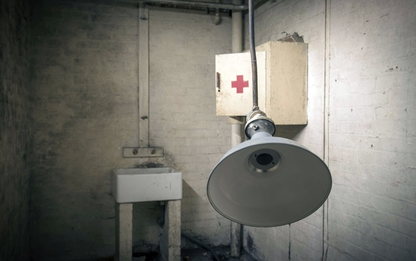 Фото обои комната, лампа, медпункт