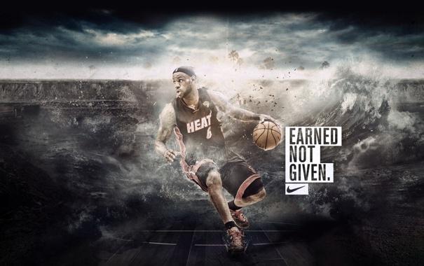 Фото обои Майами, Спорт, Баскетбол, Miami, Nike, NBA, LeBron James