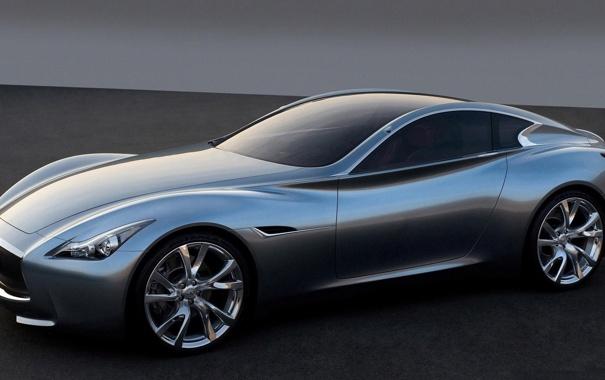 Фото обои машина, infiniti, серебристая, concept car