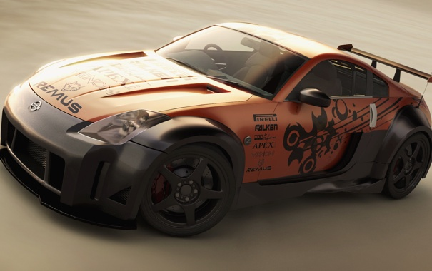 Фото обои Nissan, 350z, Tuned
