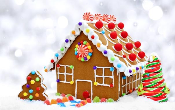 Фото обои печенье, конфеты, Christmas, Candy, выпечка, сладкое, новогодняя