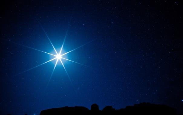 Фото обои звезды, свет, ночь, луна