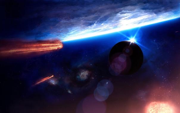 Фото обои irruption, планеты, кометы