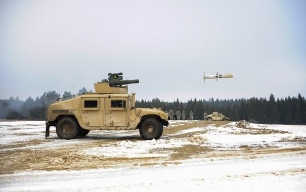 Фото обои fire, soldiers, missile, U.S. Army, TOW 2B