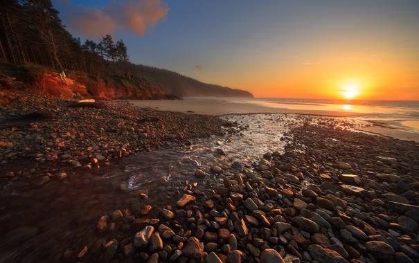 Фото обои море, пейзаж, Oregon, Cape Lookout Beach