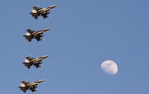 Фото обои небо, оружие, самолёты, F-16C