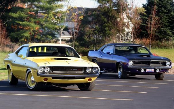 Фото обои Dodge, Plymouth, muscle cars