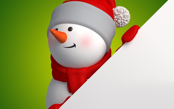 Фото обои christmas, новый год, cute, snowman, new year, banner, рендеринг