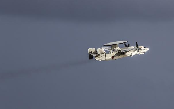 Фото обои дальнего, самолёт, E-2C, обнаружения, палубный, Hawkeye, радиолокационного