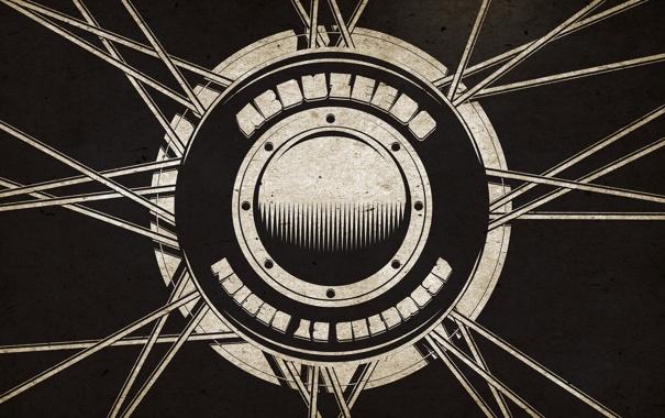 Фото обои линии, надписи, креатив, фон, чёрный, шар, минимализм