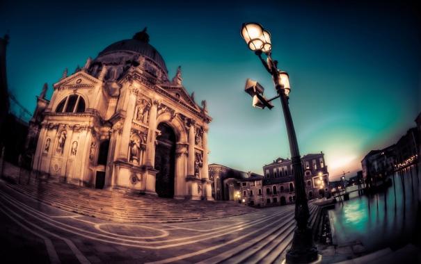 Фото обои город, канал, Венеция
