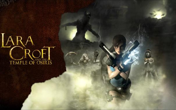 Фото обои пистолеты, lara croft, tomb raider, Lara Croft and the Temple of Osiris