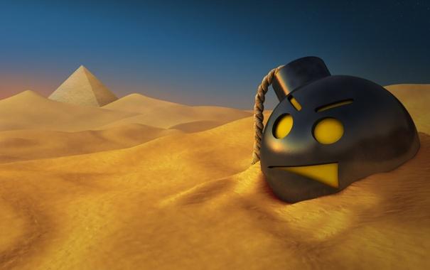 Фото обои песок, пустыня, бомба, египет, Serious Sam HD