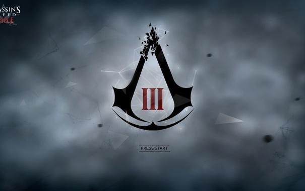 Фото обои эмблема, кредо убийц, знак ассасинов, assassins creed III