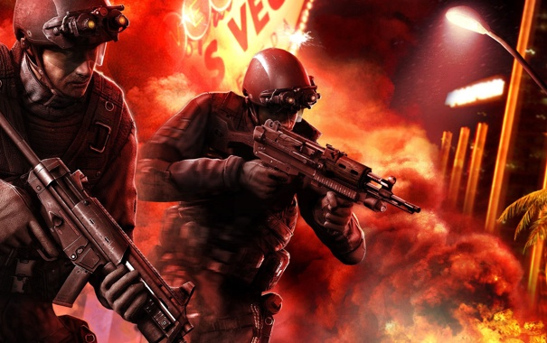 Фото обои красный, солдаты, Splinter Cell, Conviction