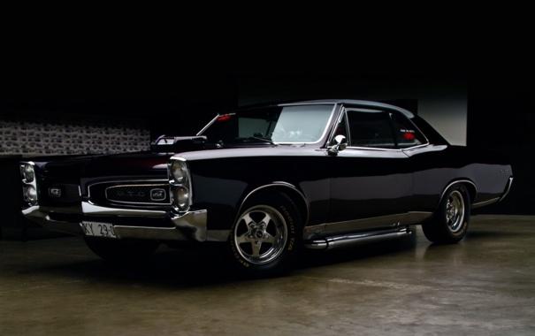 Фото обои фон, тюнинг, купе, полумрак, tuning, Pontiac, GTO