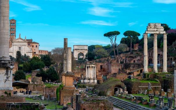 Фото обои Рим, Италия, развалины, руины, Форум