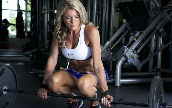 Фото обои girl, pose, workout, fitness, gym, sportswear