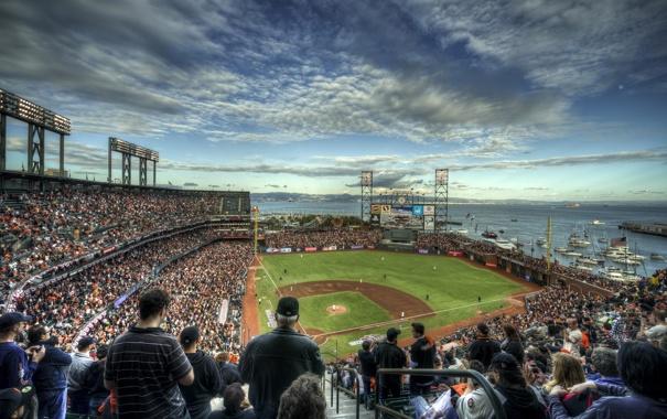 Фото обои город, спорт, стадион