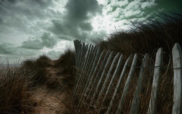 Фото обои небо, тучи, забор, растения, fortitude by glain07