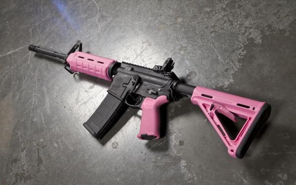 Фото обои pink, assault rifle Magpul