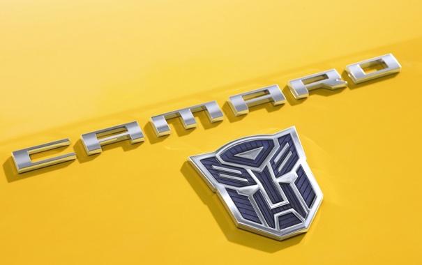 Фото обои logo, chevrolet, transformers, camaro ss
