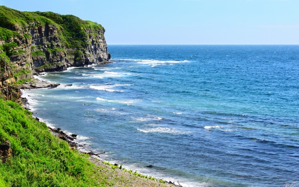 Фото обои море, вода, фото, океан, скалы, берег, пейзажи