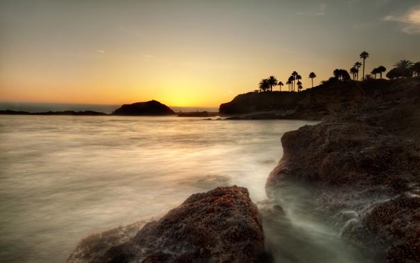 Фото обои небо, вода, камни, фото, пейзажи