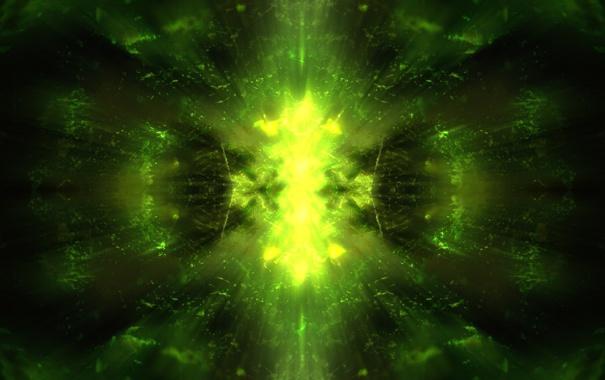 Фото обои лес, свет, абстракция, зеленый, солнечные лучи