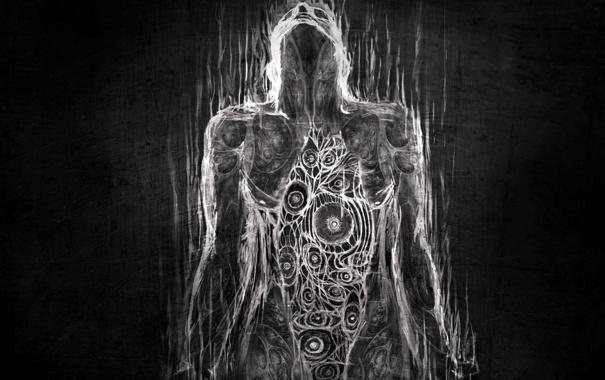 Фото обои белый, черный, человек, текстура, организм