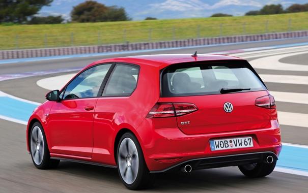 Фото обои авто, трасса, Volkswagen, Golf, GTI, 3-door