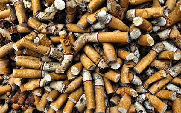 Фото обои фон, сигареты, окурки