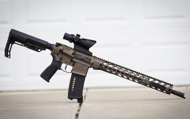 Фото обои оружие, фон, штурмовая винтовка
