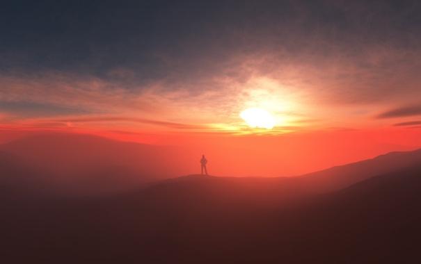 Фото обои туман, человек, splendor