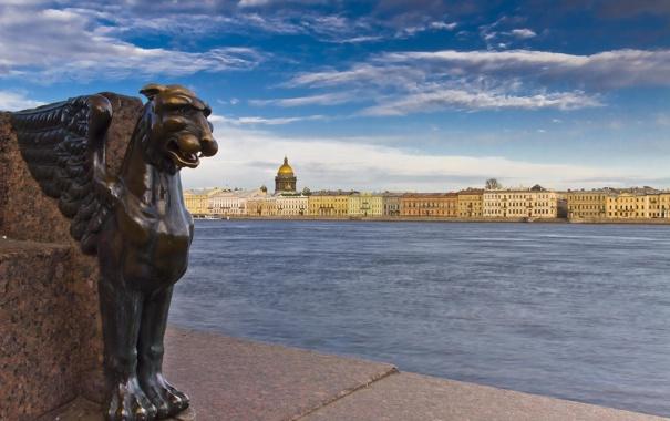 Фото обои река, Russia, набережная, питер, санкт-петербург, нева, St. Petersburg