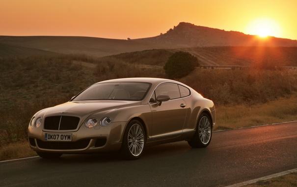 Фото обои Bentley, sunset, Continental GT Speed