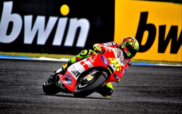 Фото обои Фото, Скорость, Гонка, Мотоцикл, Трасса, Ducati, MotoGP
