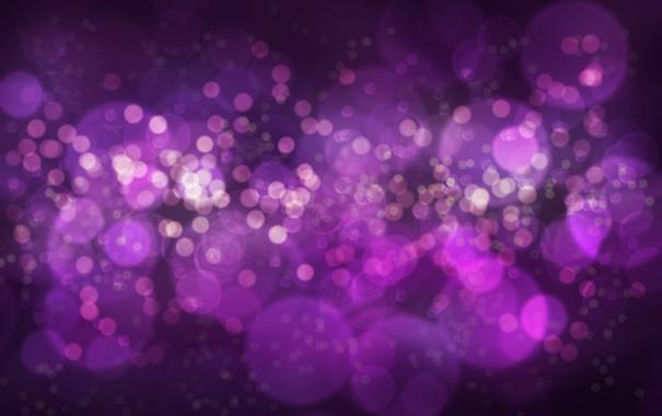 Фото обои фиолетовый, круги, боке