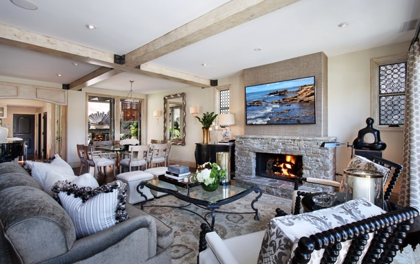 Фото обои дизайн, фото, стол, интерьер, картина, камин, гостиная